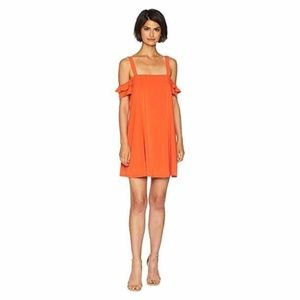 BCBGeneration Cold Shoulder Dress, Saffron Medium